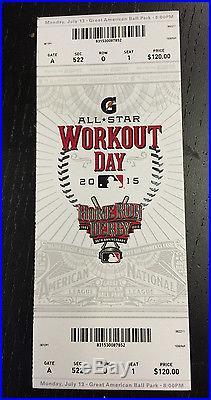 2015 MLB HOME RUN DERBY ALL STAR GAME TICKETS STUB UNUSED 7/13/15