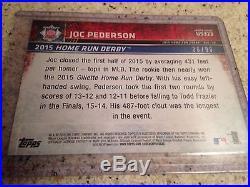 2015 Topps Update Snow Camo Parallel Home Run Derby Joc Pederson #36/99 Dodgers