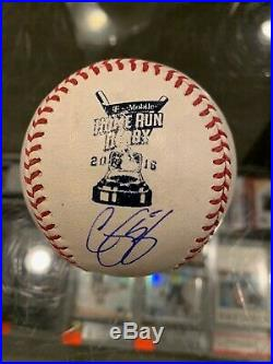 2016 All Star Home Run Derby Corey Seager Dodgers Signed Baseball Mint Jsa Petco