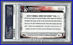 2016 Topps Update Corey Seager Dodgers #US205 Rookie PSA 10 #27034253
