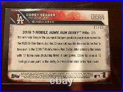 2016 Topps Update Home Run Derby Black SP /65 Corey Seager RC DODGERS