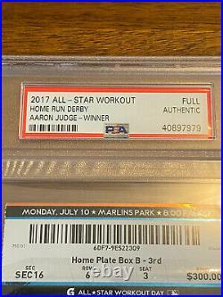 2017 Home Run Derby Full Ticket Aaron Judge Yankees