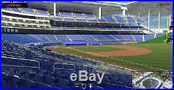 2017 MLB All-Star Game 1 Ticket strip Marlins Park, Miami, Home Run Derby+More
