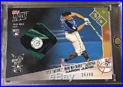 2017 Topps Now AARON JUDGE (7/10/2017) ASG Home Run Derby RC Sock Relic #26/49