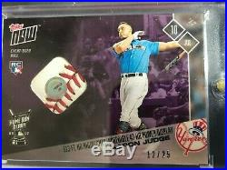 2017 Topps Now Aaron Judge Home Run Derby Ball Relic 12/25 RC Great Relic