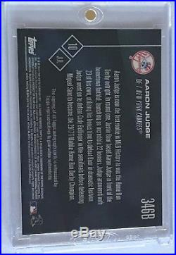 2017 Topps Now Aaron Judge Home Run Derby Champion Auto #23/49 Yankees RC