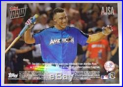 2017 Topps Now Aaron Judge Home Run Derby Game Used Sock Relic AJSA #30/49