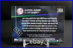2017 Topps Now Aaron Judge Home Run Derby On-Card Auto Rookie 37/99