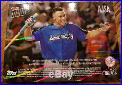 2017 Topps Now Aaron Judge Home Run Derby Sock Relic card #'d 45/49 Yankees
