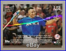 2017 Topps Now Aaron Judge RC Home Run Derby Sock Relic Patch /25