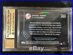 2017 Topps Now Aaron Judge Rc Home Run Derby Auto /99 Bgs 10/10 Yankees Pop 1