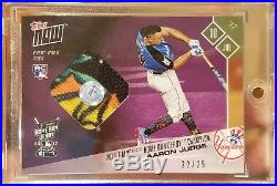 2017 Topps Now Aaron Judge T-mobile Home Run Derby Purple Sock Relic /25 Mint