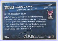 2017 Topps Update Home Run Derby Mother's Day Hot Pink /50 Aaron Judge Rookie