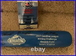 2017 carolina league all-star home run derby signed limited edition bat