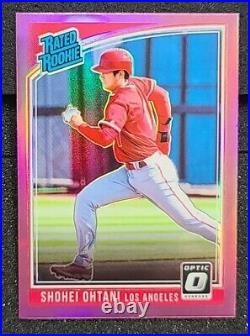 2018 Donruss Optic Rated Shohei Ohtani Holo Pink Refractor Prizm #56 Angels