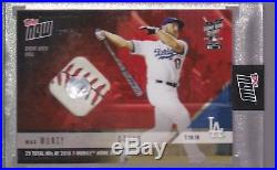 2018 Topps NOW HRD-14A Max Muncy 2018 Home Run Derby Game Used Ball Relic 7/10