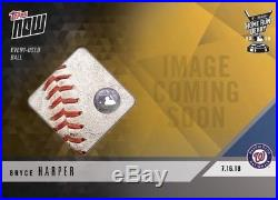 2018 Topps NOW HRD-9C BRYCE HARPER 2018 Home Run Derby Ball Relic 1/1 &AUTO/99