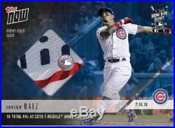 2018 Topps NOW Javier Baez MLB HRD-20A 2018 Home Run Derby Sock Relic /49