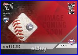 2018 Topps NOW MLB HRD-11A Rhys Hoskins 2018 Home Run Derby Relic /10 (RC)