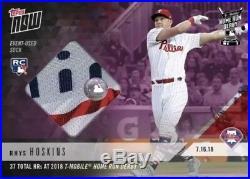 2018 Topps NOW MLB HRD-17B Rhys Hoskins 2018 Home Run Derby Sock Relic /25 RC