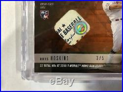 2018 Topps NOW MLB HRD-17D Rhys Hoskins Home Run Derby Relic /5 RC Orange