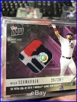 2018 Topps NOW MLB HRD-18B Kyle Schwarber Home Run Derby Sock Relic /25 CUBS