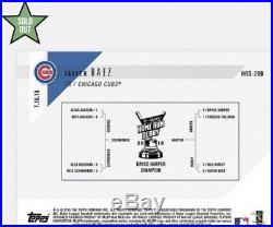 2018 Topps NOW MLB HRD-20B Javier Baez 2018 Home Run Derby Sock Relic /25 CUBS