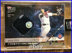 2018 Topps Now #40A Javier Baez Chicago Cubs Home Run Derby Sock Relic 16/49