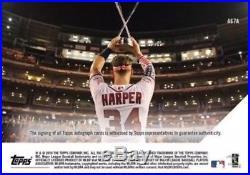 2018 Topps Now Bryce Harper Auto Autograph /99 All Star Home Run Derby Champion