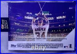 2018 Topps Now Bryce Harper Autographed Home Run Derby Card 19/25 Purple #467C