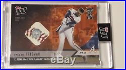 2018 Topps Now Freddie Freeman Home Run Derby Game Used Ball Relic 1/5 Hrd-16b