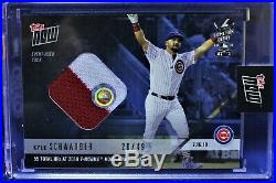 2018 Topps Now Home Run Derby Kyle Schwarber (Sock Relic) (Blue) #20/49 (Sealed)
