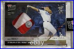 2018 Topps Now Max Muncy Home Run Derby Event Worn Sock Relic Card 1/49 Dodgers