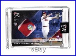 2018 Topps Now Rhys Hoskins Home Run Derby Game Used sock patch card 40/49