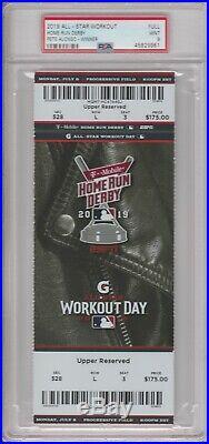 2019 MLB All Star Home Run Derby Ticket Full PSA 9 Pop 2 Highest Grade