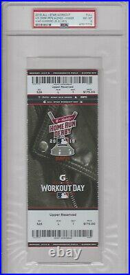 2019 MLB All Star Workout Home Run Derby Ticket Full PSA 8 Pete Alonso Winner