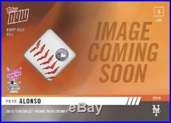 2019 Topps NOW Home Run Derby Ball Relic /5 PETE ALONSO RC
