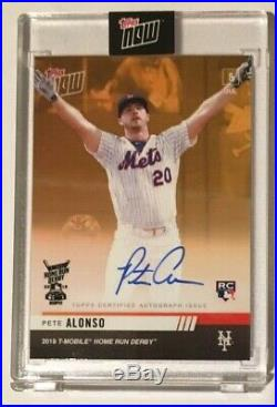 2019 Topps Now Home Run Derby Pete Alonso RC Winner Bonus On Card Auto SP 50