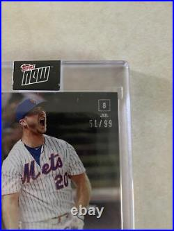 2019 Topps Now MLB Home Run Derby Pete Alonso/ Autograph Card 51/99