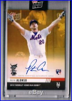 2019 Topps Now PETE ALONSO Rookie Home Run Derby Gold Auto Autograph SP /50