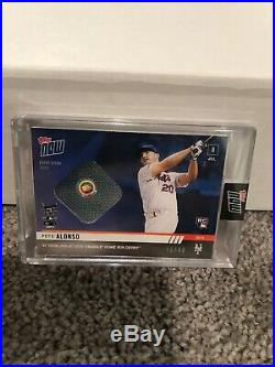 2019 Topps Now Pete Alonso Event-worn Sock Relic 41/49 Home Run Derby
