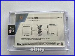 2019 Topps Now Pete Alonso Home Run Derby Event Worn Sock Relic 45/49 Mets
