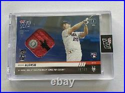 2019 Topps Now Pete Alonso Home Run Derby Event Worn Sock Relic /49 Mets Rare