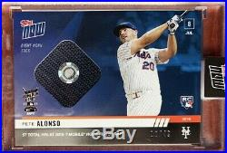 2019 Topps Now Pete Alonso Home Run Derby Event Worn Sock Relic Card 12/49