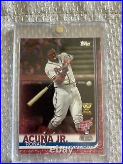 2019 Topps Update Home Run Derby Ronald Acuna Jr Mothers Day Pink