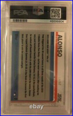 2019 Topps Update Pete Alonso US262 BLACK /67 PSA 8.5 RC HRD Home Run Derby Mets