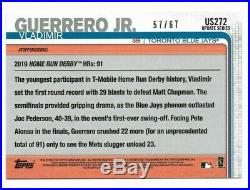2019 Topps Update Vladimir Guerrero Jr Black #57/67 Home Run Derby Rookie US272