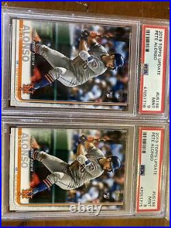 2019 topps pete alonso psa 9 rookies lot with holiday sock sp Home Run Derby