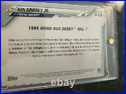 2020 1994 Home run Derby Topps Ken Griffey Jr Card BLUE FATHERS DAY U-150 16/50