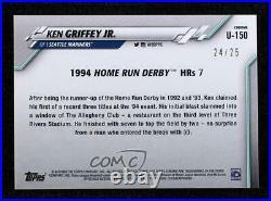 2020 Chrome Update Sapphire Edition Home Run Derby Orange /25 Ken Griffey Jr HOF